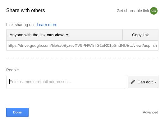 You can use the default Google Drive sharing URL as your Download Monitor version URL
