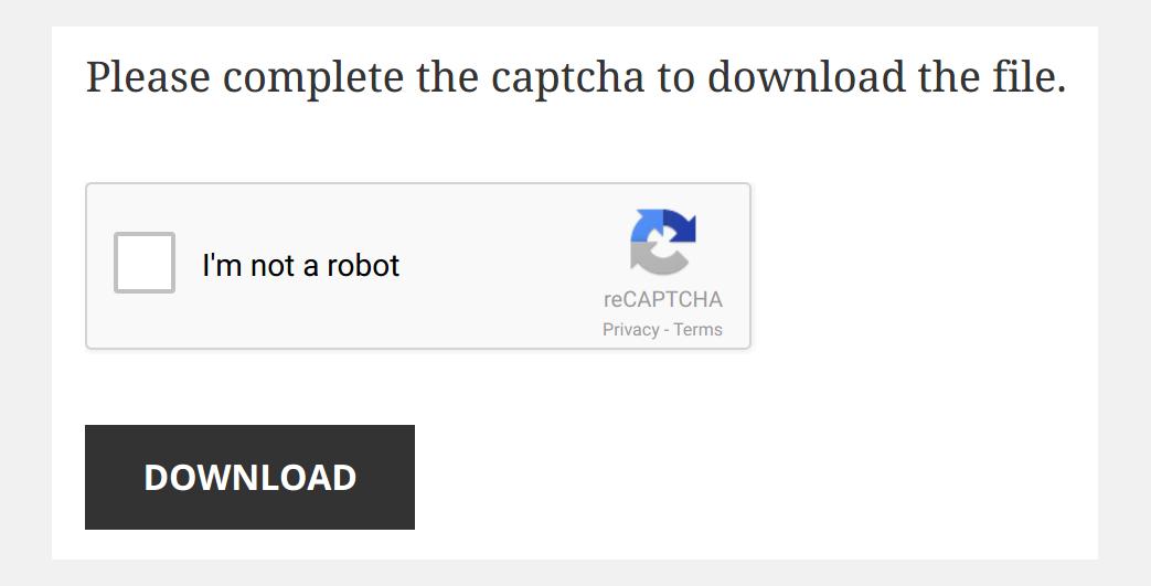Download Monitor Captcha