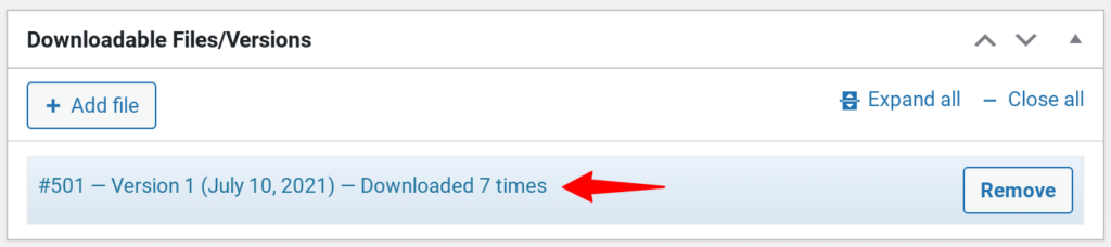 Automatic tracking of file downloads on WordPress